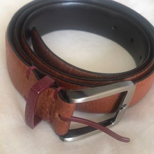NWT New Ted Baker Reversible Tan /& Dark Brown 2-sided Men's Leather Belt Sz 32